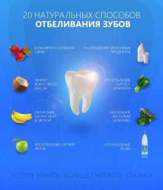 20 натуральных способов отбеливания зубов