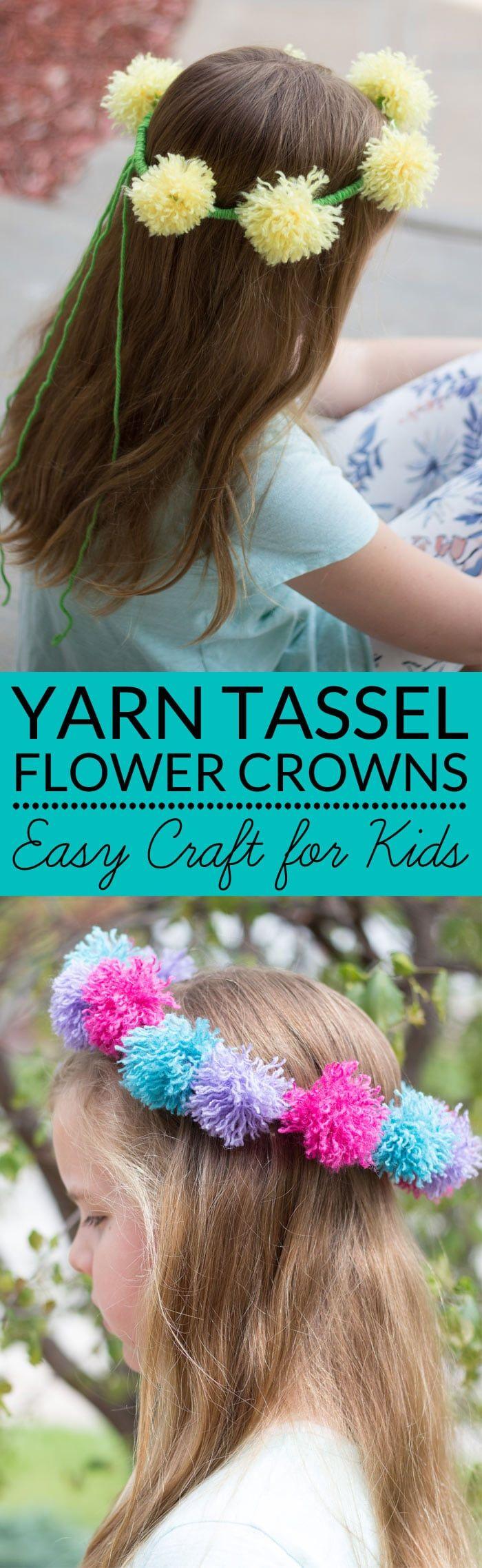 Flower Crowns | Tassel Flowers | Flower chain crown | Dandelion crown  via @brendidblog