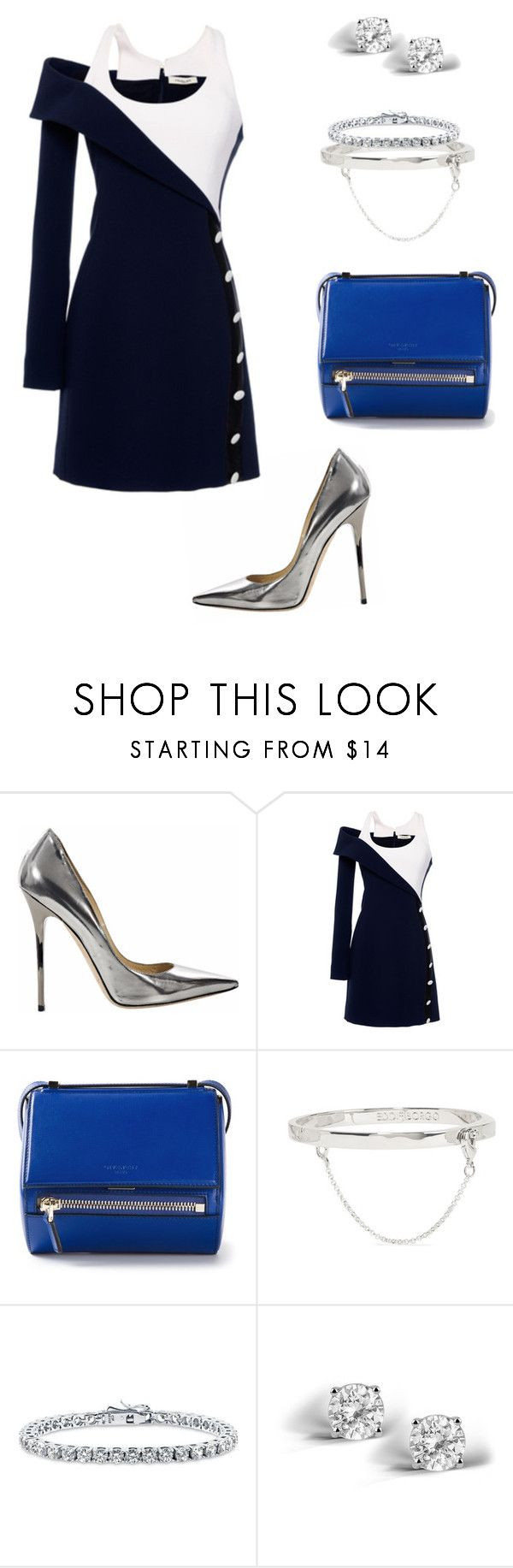 """""""Untitled #610"""" by khloodalshehri ❤ liked on Polyvore featuring Jimmy Choo, Thierry Mugler, Givenchy, Eddie Borgo, BERRICLE and Glitzy Rocks"""