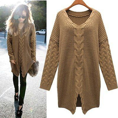 Long knotted sweater