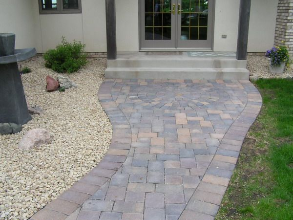 8 best paver sidewalk images on pinterest | driveways, landscaping ... - Patio Walkway Ideas