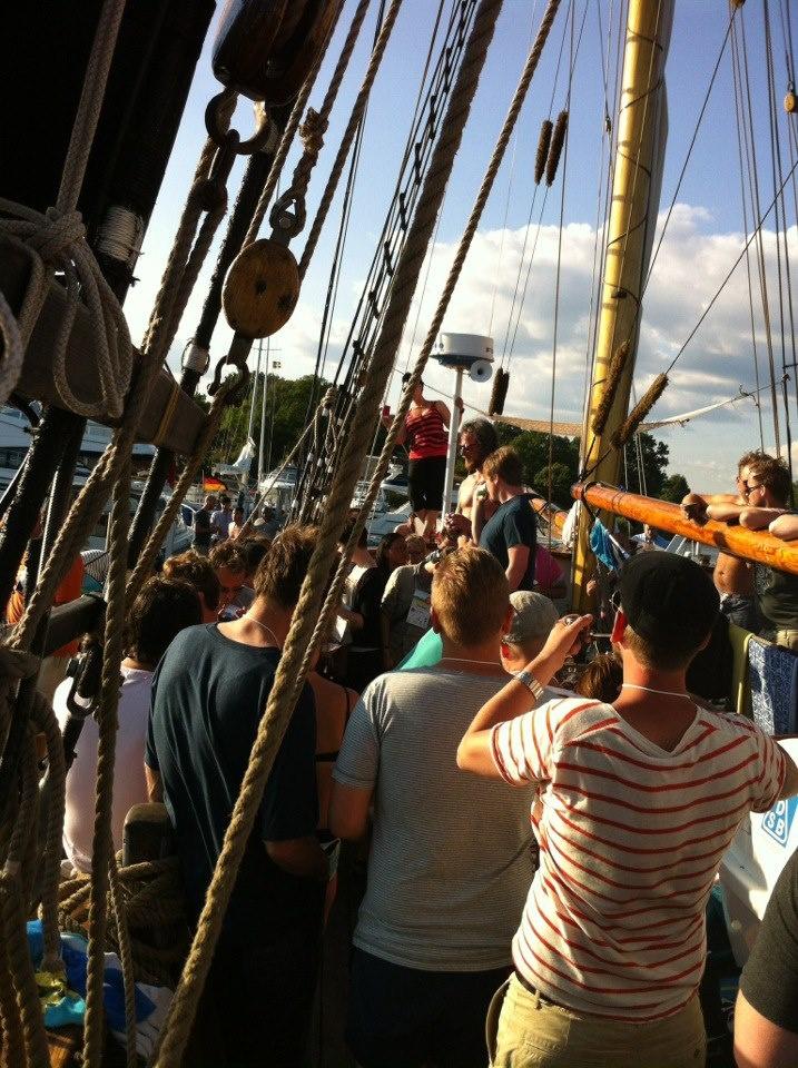 Mingel, mingel, mingel! #sswc på en båt.