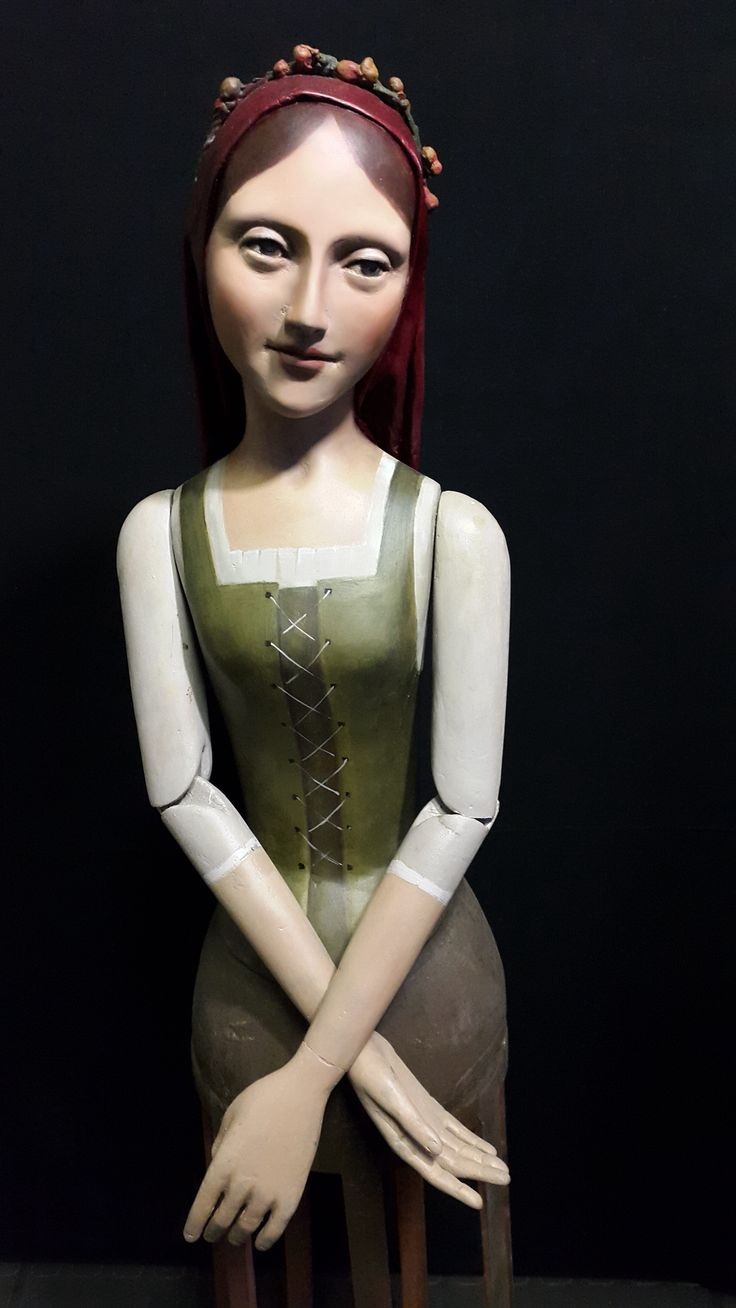 Renaissance inspired cage doll mannequin
