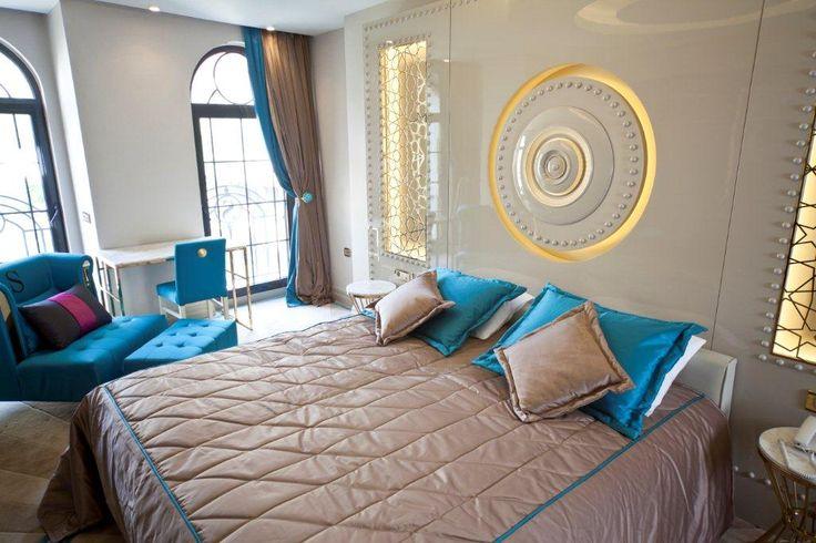 Turquoise floor-Superior Bed Head-City View #istanbulhotels #sultanahmet #luxuryroom #hagiasofia #istanbul
