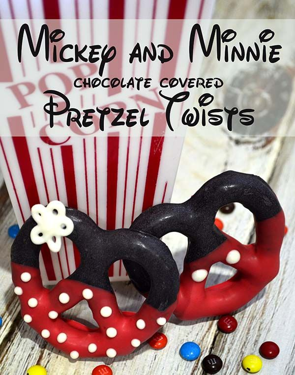 mickey and minnie pretzel twists. Cute and not too difficult! #disney