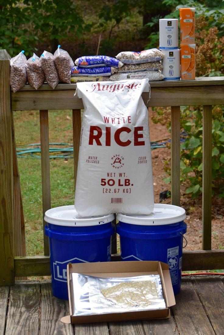 DIY  Survival Food Bucket ~ http://www.southernplate.com