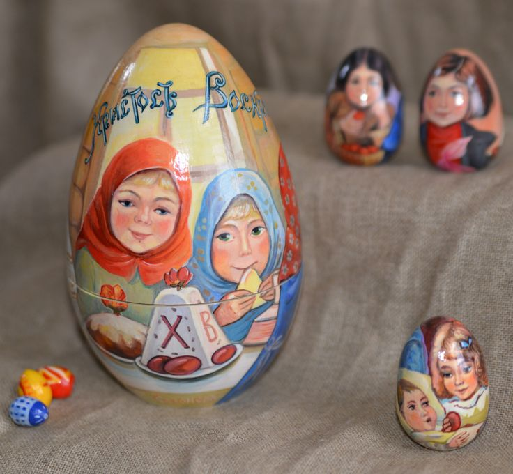 Orthodox Easter and kids / egg 'Orthodox Easter and children' by CostumeRusse on Etsy https://www.etsy.com/listing/228672641/orthodox-easter-and-kids-egg-orthodox