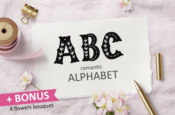 Hand drawn alphabet by Hanifa_design on @creativemarket