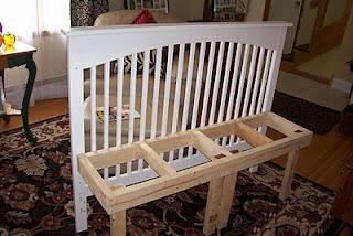 Crib bench from simplysimplisticated.blogspot.comBenches From Cribs, Simply Simplistic, Crafts Ideas, Cribs Ideas, Projects Ideas, Cribs Upcycling, Cribs Benches, Cribs Repurpoed Benches, Cribs Projects