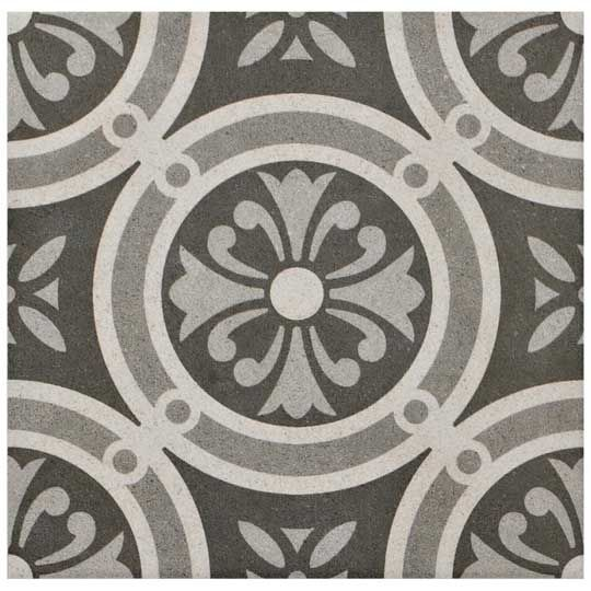 25x25cm vintage grey classic floor tile room kitchen for Classic kitchen floor tile