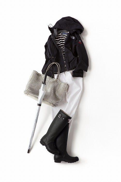 コーディネート詳細(スポーティに、男の子みたいに、 雨の日だからこその着こなしを楽しむ)  Kyoko Kikuchi's Closet 菊池京子のクローゼット