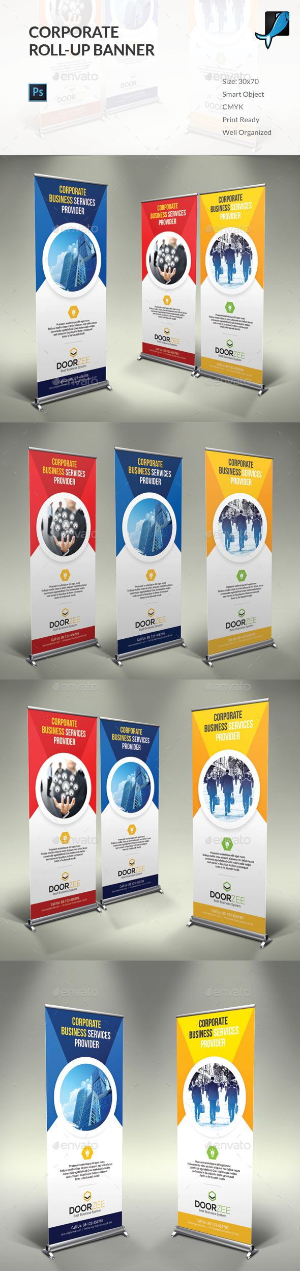 Corporate Rollup Banner Template PSD. Download here: http://graphicriver.net/item/corporate-rollup-banner/14926857?ref=ksioks