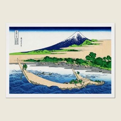 Cool oriental japanese Hokusai Fuji View landscape Poster by TheGreatestTattooArt