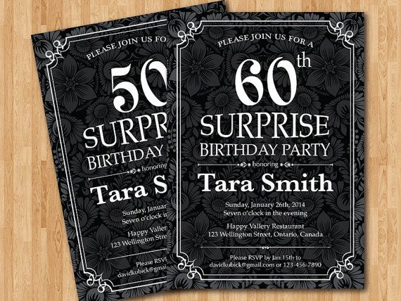 9 best 70th images on pinterest birthday party ideas anniversary items similar to surprise birthday party invitation any age printed or diy on etsy stopboris Choice Image