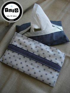 pochette mouchoirs papier tuto gratuit france stalla duval lila et lilou gris étoiles
