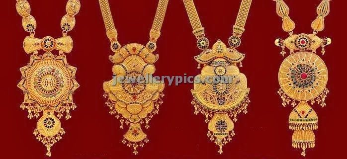 Kolkata Design Haram Lockets From Lalitha Jewellery Gold