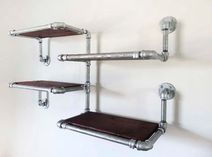 best 25 galvanized pipe shelves ideas that you will like. Black Bedroom Furniture Sets. Home Design Ideas