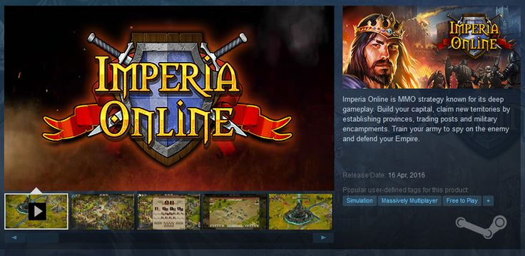 Imperia Online is featured in Steam!