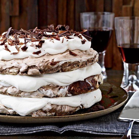 Hazelnut-and-Chocolate Meringue Cake // More Beautiful Desserts: http://www.foodandwine.com/slideshows/beautiful-desserts/1 #foodandwine