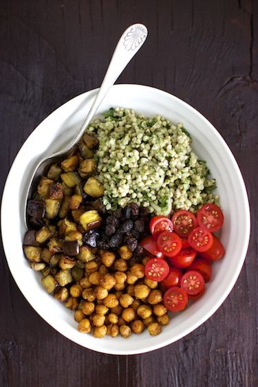 Buckwheat Salad with Roasted Eggplant and Chickpeas!