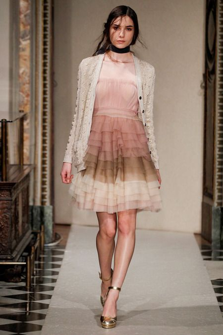 Luisa Beccaria | Fall 2014 Ready-to-Wear Collection | Style.com [Photo: Gianni Pucci / Indigitalimages.com]