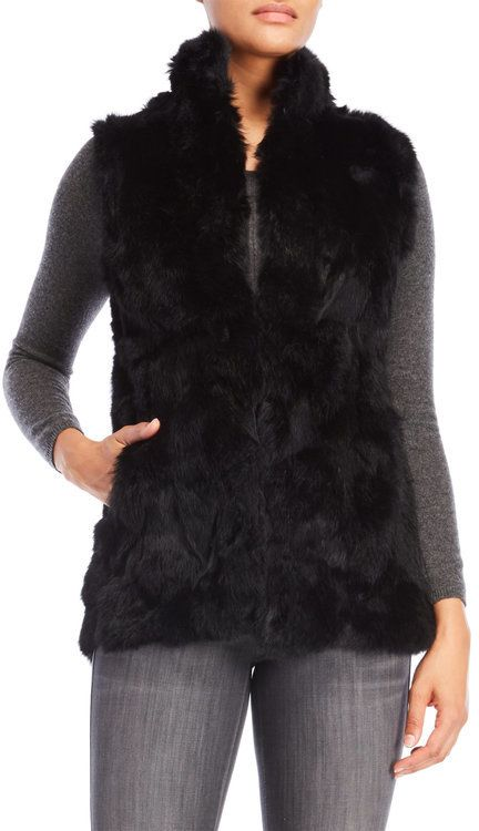 patrizia luca High Neck Real Fur Vest