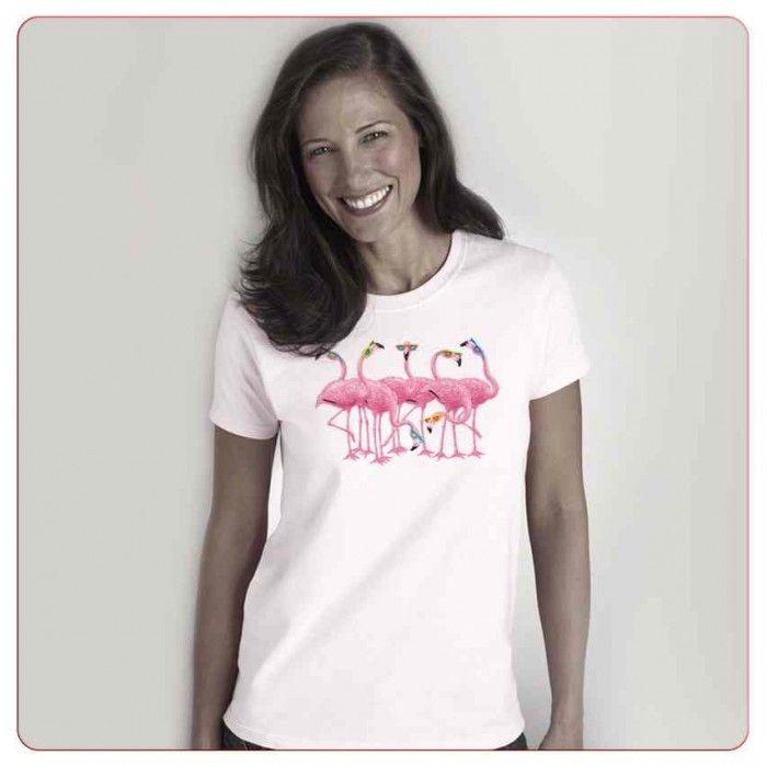 Cadouri pentru iubitorii de animale – Tricou Pasarea Flamingo