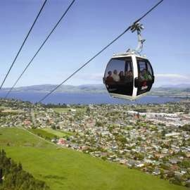 Rotorura, New Zealand Skyline Gondola. I've already been here, but man do I want to go back, and not just to Rotorura (WONDERFUL hot springs there by the way) but I also want to go to the South Island
