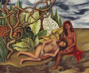 Imagem de Dos Desnudos en el Bosque, de Frida Kahlo (Foto: Divulgação)