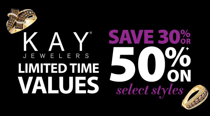 Online Only! 30 to 50% #Off Select Fashion Jewelry from Colors in Rhythm, Diamonds in Rhythm, Le Vian, and Open Hearts  Store: #KayJewelers  Scope: Entire Store Ends On : 04/25/2018  Get more deals: http://www.geoqpons.com/Kay-Jewelers-coupon-codes  Get our Android mobile App: https://play.google.com/store/apps/details?id=com.mm.views  Get our iOS mobile App: https://itunes.apple.com/us/app/geoqpons-local-coupons-discounts/id397729759?mt=8