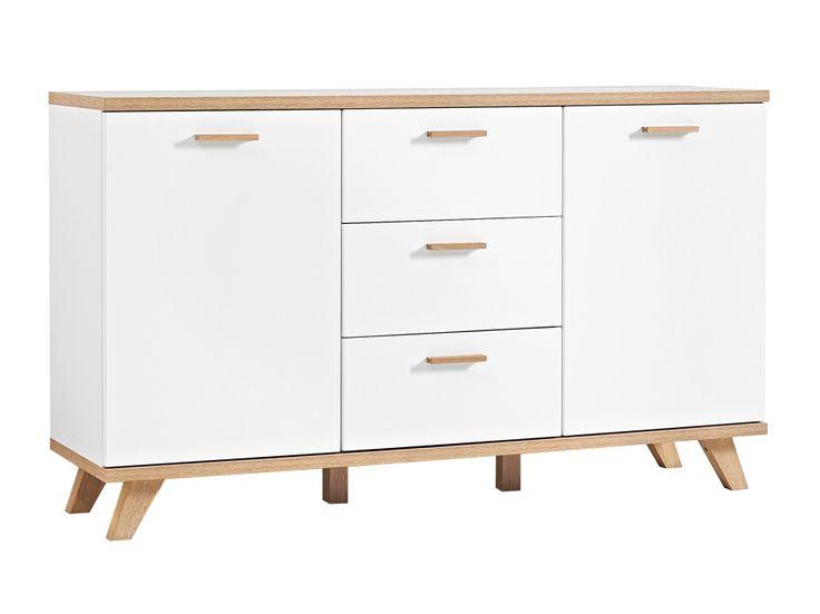 ARENDAL Sideboard 144 Ek/Vit i gruppen Inomhus / Förvaring / Skåp & Byråar hos Furniturebox (100-50-84396)