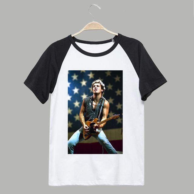 working class hero Bruce springsteen HD digital printing rock fashion t shirt