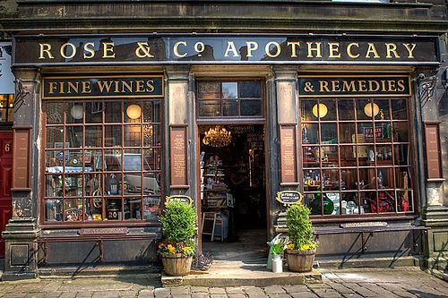 Rose & Co Apothecary in Haworth, home to the Bronte Sisters and Bronte Parsonage - a favourite day out.