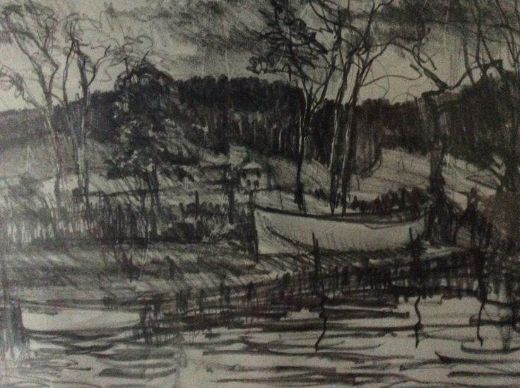 Thames near Reading. Pencil. V. Kennedy (With images ...