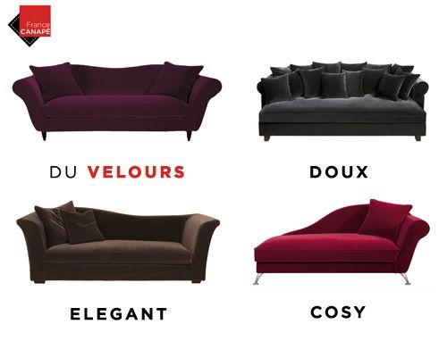 Et pourquoi pas un canapé en velours ?  Osez le velours ! #francecanape #canapé #velours #douceur #déco #salon #canap