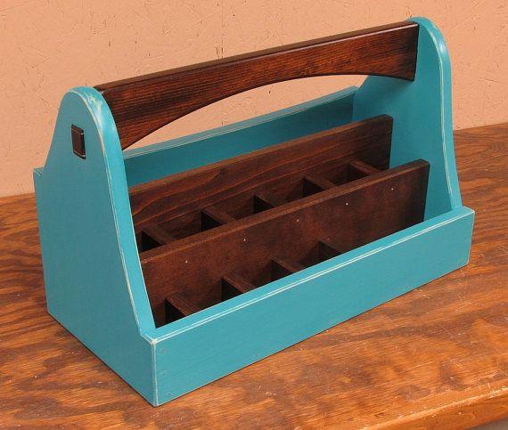 Professional Art Supply Box Blue Art Caddy by SmithwickandCo