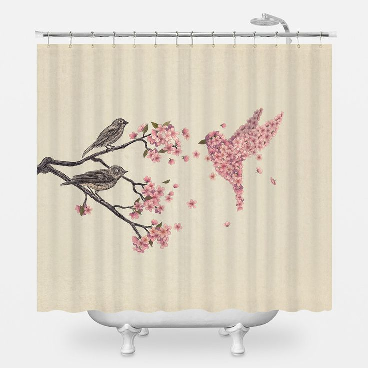 25 Best Bird Shower Curtain Ideas On Pinterest Christmas Bathroom Christmas Shower Curtains