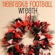 College Football Saturday Tailgate: Easy DIY Team Spirit Wreath that should say Go Mules!