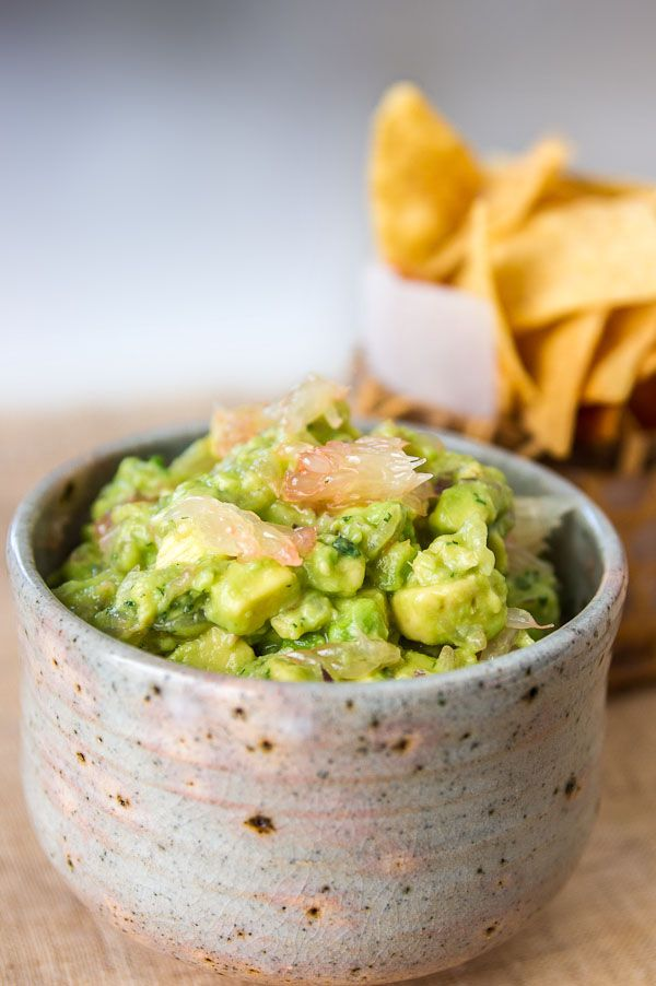 Grapefruit Guacamole from Mac at NoRecipes. Grapefruit and avocado is a great combination. Love the idea of putting supremed grapefruit segments into guacamole.