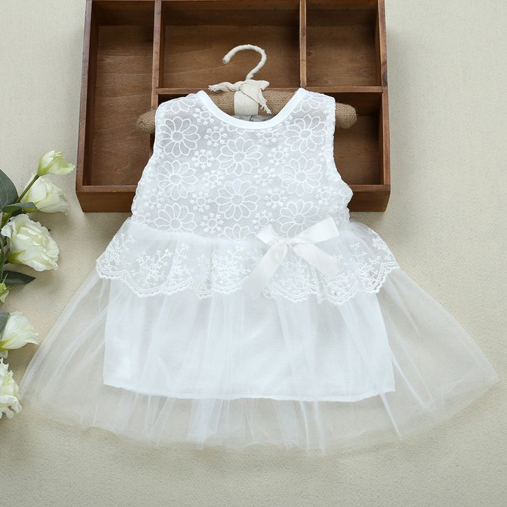Cute 2017 Summer Infant Baby Girls Dress Outfits Kids Children Tutu Princess Dress Lace Voile Wedding Party Dresses Girl Clothes