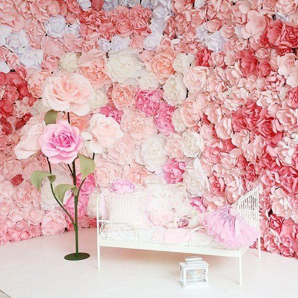 как сделать стену из цветов для фотосессии для ремонта зала