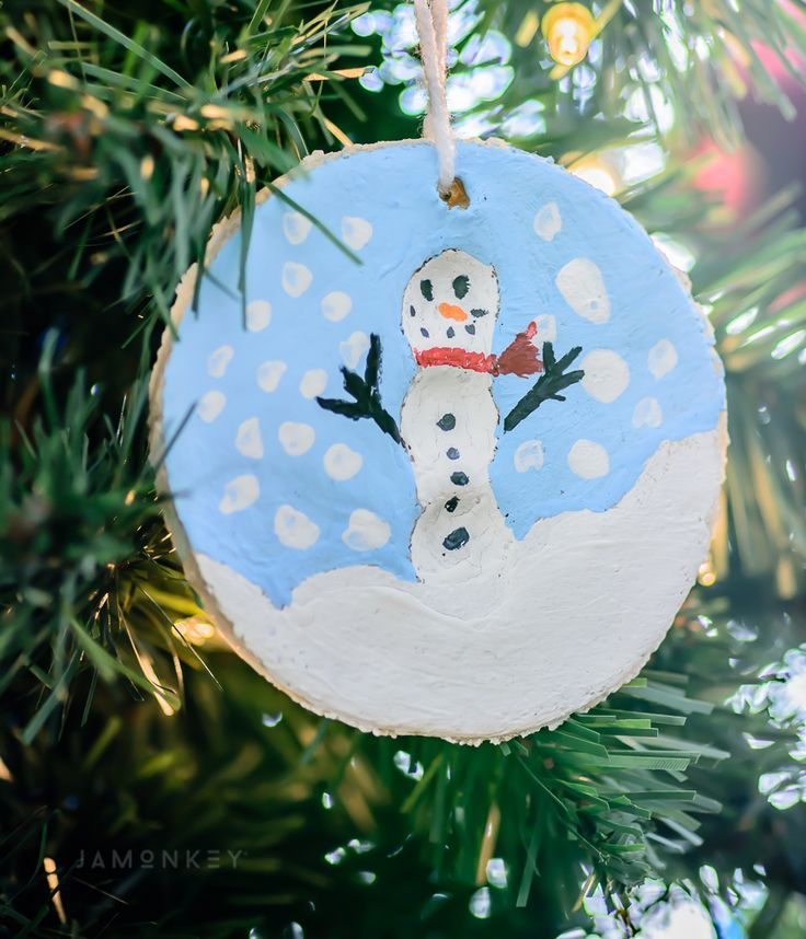 Snowman Ornament Kids Craft Ideas for