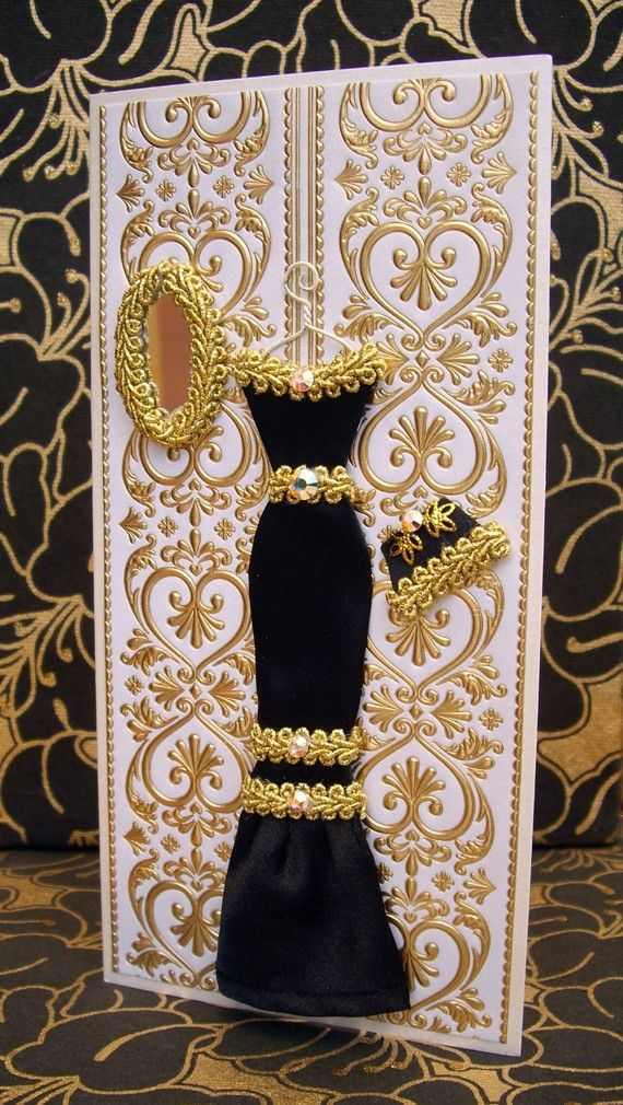 Anna Personalized Dress Card / DL Size / Handmade by BSylvar, $21.00