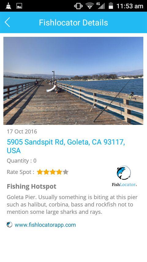 Goleta Pier USA Fishlocator app