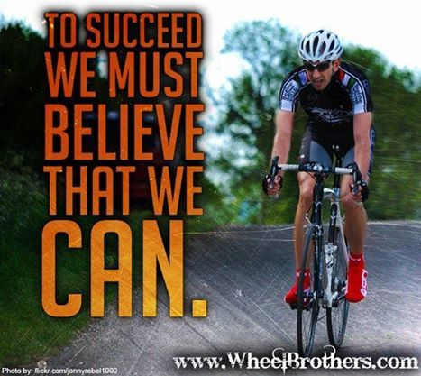 To succeed we must belive that we can