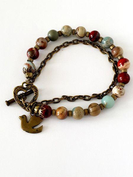 Picasso jasper bracelet – Luzjewelrydesign