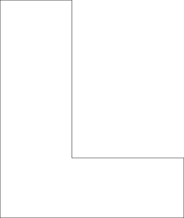 Free Printable Upper Case Alphabet Template: L - Free Printable Upper Case Alphabet Template