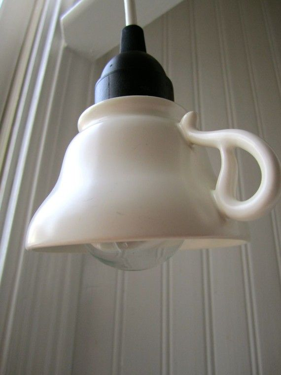 Tea cup light!  Perfect for over the kitchen sink.