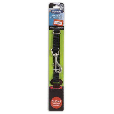 Petmate Dog Seat Belt Loop Harness Metal Clip Tether Adjustable Small Medium