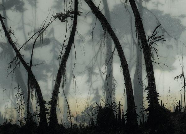 brooks salzwedel - tape, pencil and resin, 2010